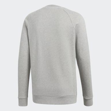 Trefoil Warm-Up Crew Sweatshirt Szary