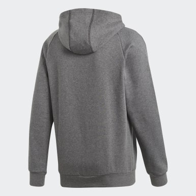 Sweat-shirt à capuche Core 18 Gris Hommes Training