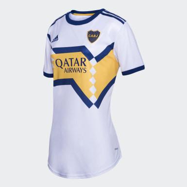 Camiseta Visitante Boca Juniors Mujer Blanco Mujer Fútbol