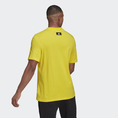 Men Athletics Yellow adidas Sportswear Logo Tee