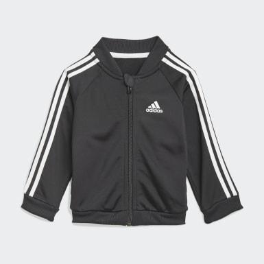 Survêtement 3-Stripes Tricot Noir Enfants Athletics