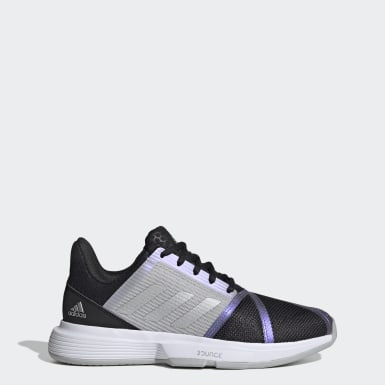Women Tennis Black CourtJam Bounce Shoes