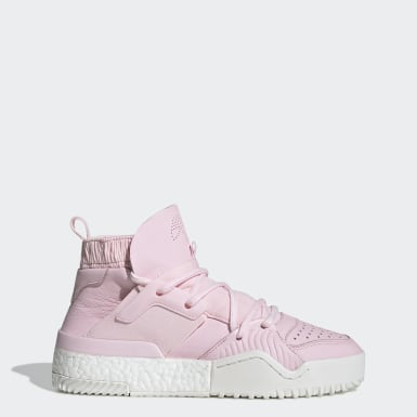 Men's Originals Pink adidas Originals by AW B-Ball Shoes