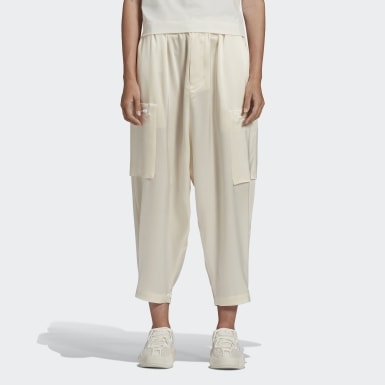 Women Y-3 White Y-3 CH3 Tech Silk Cargo Tracksuit Bottoms