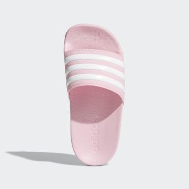 Dívky Trénink růžová Pantofle Adilette Shower