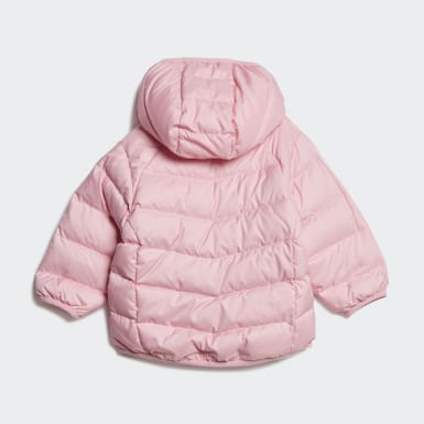 Girls Originals Pink Real Down Jacket