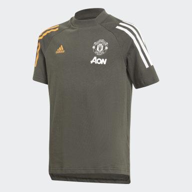 T-shirt Manchester United FC Verde Bambini Calcio