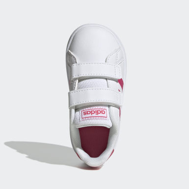 Girls Lifestyle White Grand Court Shoes