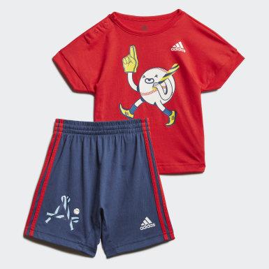 красный Комплект: футболка и шорты Character