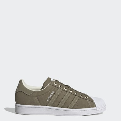Men's Originals Green Superstar Shoes
