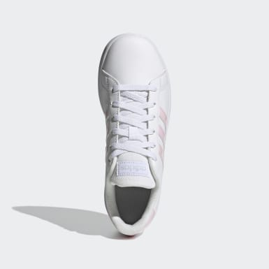 Kids 4-8 Years Tennis White Grand Court Shoes