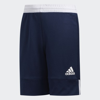 Kids 4-8 Years Basketball Blue 3G Speed Reversible Shorts
