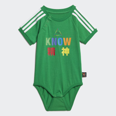 Kids Originals Green Pharrell Williams Babygrow Suit
