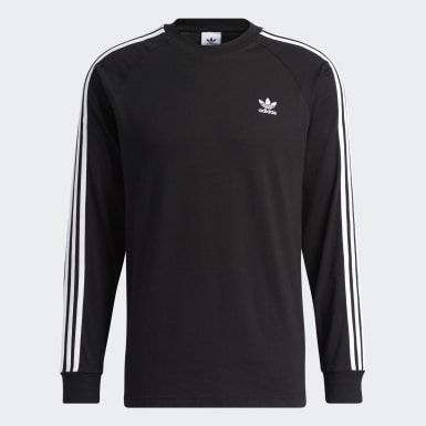 Men Originals Black 3-Stripes Tee