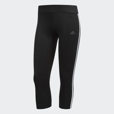 Licras 3/4 Response - Cintura Baja Negro Mujer Running