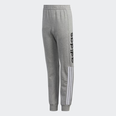 Youth Training Grey Linear Logo Joggers