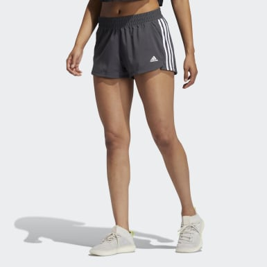 Women's Training Grey Pacer 3-Stripes Woven Shorts