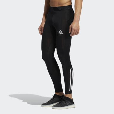 Collant Techfit 3-Stripes Long noir Hommes Entraînement