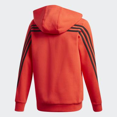 Бордовый Толстовка 3-Stripes