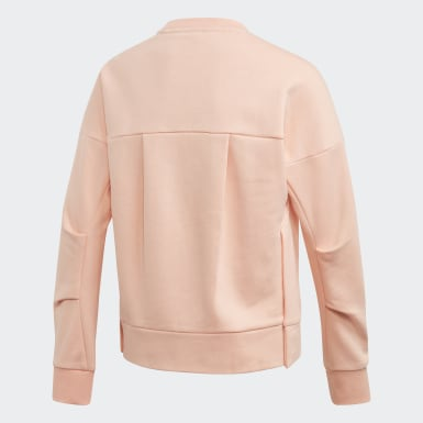 Youth 8-16 Years Training Pink ID Glam Crew Sweatshirt