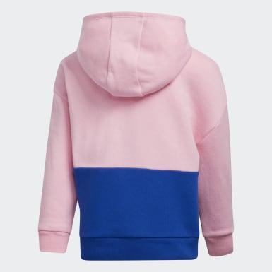 Children Training Pink Colorblock Hoodie