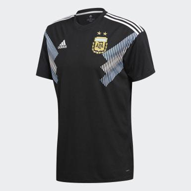 Réplica Camiseta de Visitante Selección Argentina Negro Hombre Fútbol