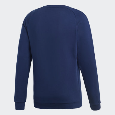 Heren Training Blauw Core 18 Sweatshirt