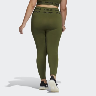 Women's Training Green Training Aeroknit 7/8 High-Rise Tights (Plus Size)