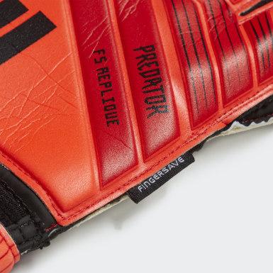 Guantes de Arquero de Entrenamiento Predator Top Fingersave Rojo Hombre Fútbol