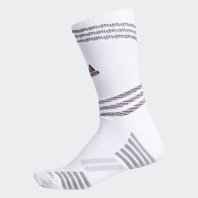Men's Running White Speed Mesh Team Crew Socks