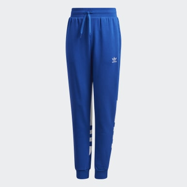 Youth Originals Blue Large Trefoil Pants