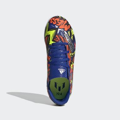 Children Soccer Blue Nemeziz Messi 19.4 Indoor Shoes