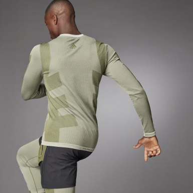Men Studio White Studio Techfit Seamless Long-Sleeve Top​