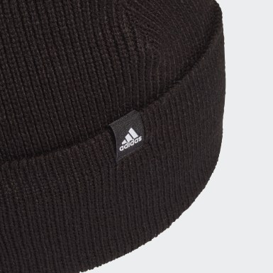 Bonnet en laine 3-Stripes Noir Training