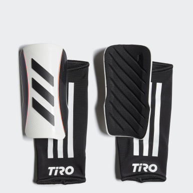 Youth Soccer White Tiro League Shin Guards