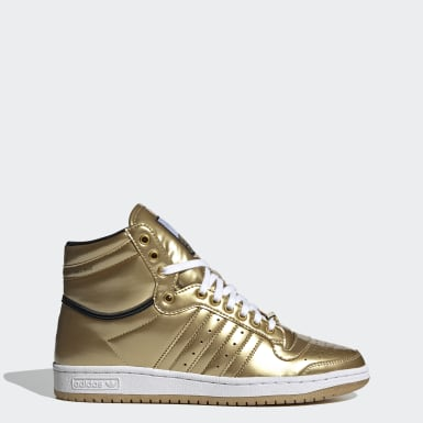 Sapatos Top Ten Hi Star Wars Dourado Originals