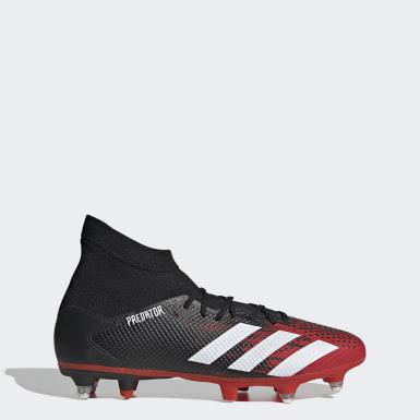 Bota de fútbol Predator 20.3 césped natural húmedo Negro Mujer Fútbol