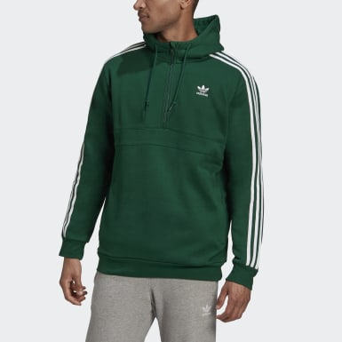 Sweat-shirt à capuche 3-Stripes Vert Hommes Originals
