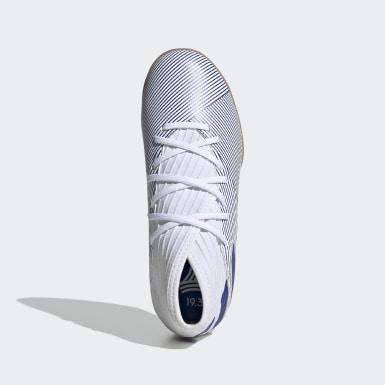 Boys Football White Nemeziz 19.3 Indoor Boots