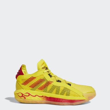 บาสเกตบอล สีเหลือง รองเท้า Dame 6