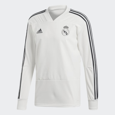 Mænd Fodbold Hvid Real Madrid træningstrøje