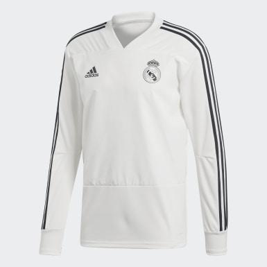 Sudadera entrenamiento Real Madrid Blanco Hombre Fútbol