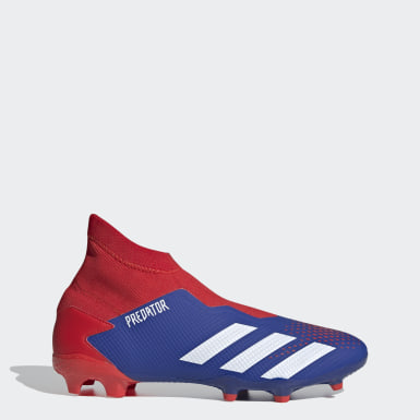 Dam Fotboll Blå Predator 20.3 Laceless Firm Ground Boots