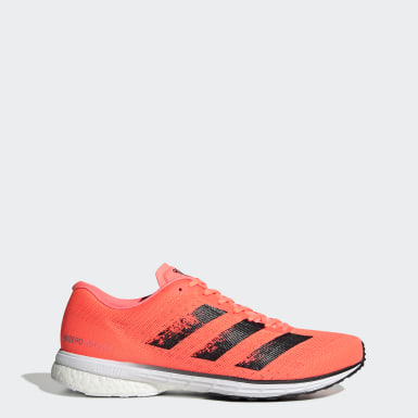 Men Running Orange Adizero Adios 5 Shoes