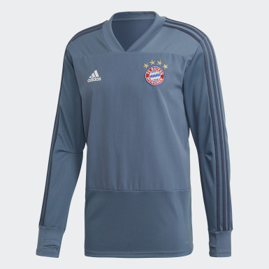 Men Football Blue FC Bayern Ultimate Training Top