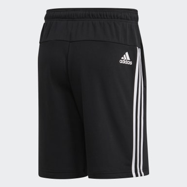 Heren Athletics Zwart Must Haves 3-Stripes French Terry Short