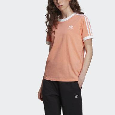 Women Originals Orange 3-Stripes T-Shirt