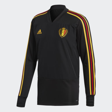 Men Football Black Belgium Training Top