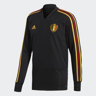 Sudadera entrenamiento Bélgica Negro Hombre Fútbol
