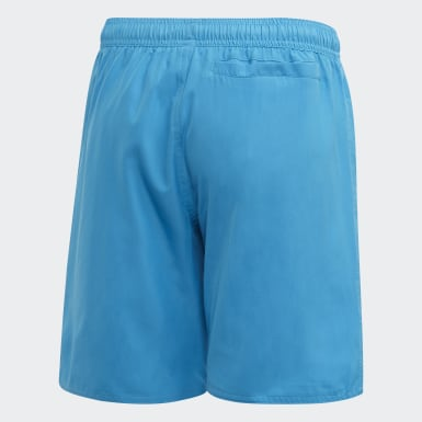 Children Swimming Turquoise Bold 3-Stripes Swim Shorts